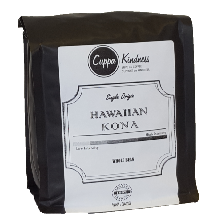 Fresh roasted Hawaiian artisan coffee beans sold by social coffee comany in Canada