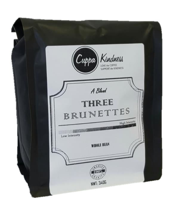 Medium fresh roasted gourmet top rated coffee beans from Cuppa Kindness, the best place to buy coffee online in Canada, including coffee subscriptions.