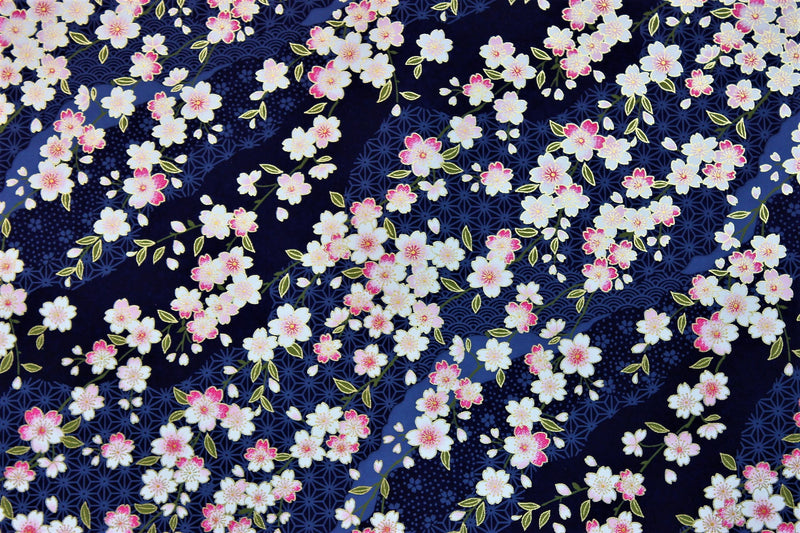 Midnight Sakura washi paper