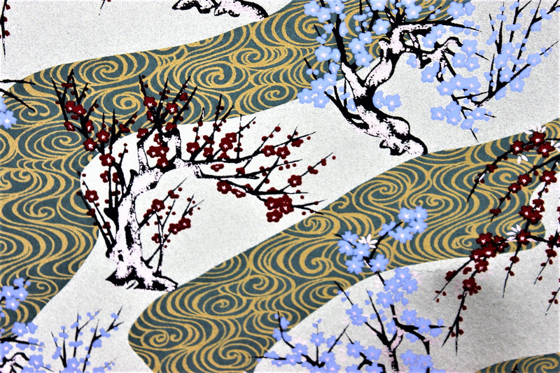 Plum Blossoms by the River washi paper
