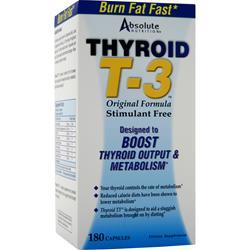 Buy Absolute Nutrition, Thyrox T-3, 180 caps at Herbal Bless Supplement Store