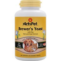 Buy Actipet, Brewer's Yeast, 90 tabs at Herbal Bless Supplement Store