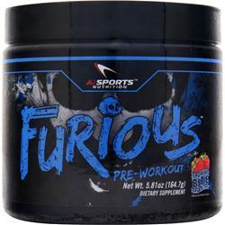 Buy AI Sports Nutrition, Furious Pre-Workout, Booming Blue Raspberry 5.81 oz at Herbal Bless Supplement Store