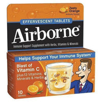 Buy Airborne, Effervescent Immune Support with 1000 mg of Vitamin C, Orange 10 ct at Herbal Bless Supplement Store
