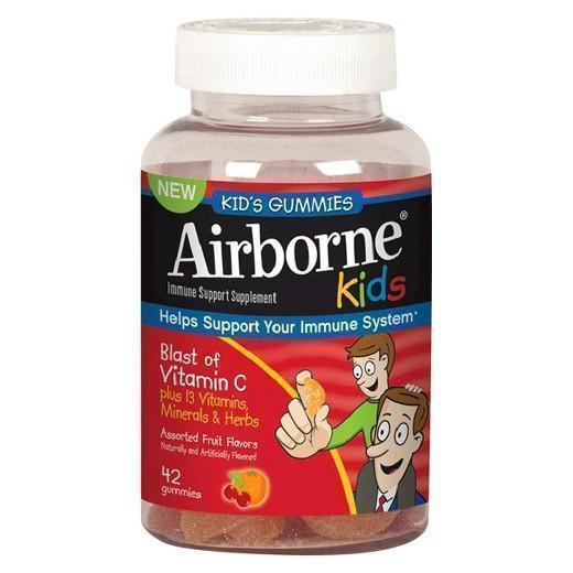 Buy Airborne, Kids Immune Support Supplement - Assorted Fruit Flavored, 42 Gummies at Herbal Bless Supplement Store