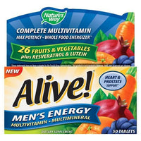 Buy Alive!®, Men's Energy Multivitamin - 50ct at Herbal Bless Supplement Store