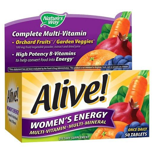 Buy Alive!®, Women's Energy Multi-Vitamin Tablets - 50ct at Herbal Bless Supplement Store