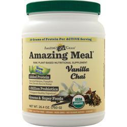 Buy Amazing Grass, Amazing Meal, Vanilla Chai 26.4 oz at Herbal Bless Supplement Store