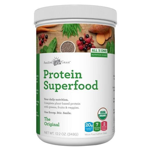 Buy Amazing Grass, Protein SuperFood Pure Original 12 Servings at Herbal Bless Supplement Store