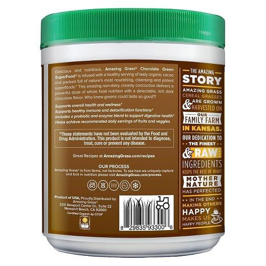 Buy Amazing Grass®, Green Superfood Chocolate 30-Serving Tub at Herbal Bless Supplement Store