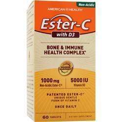 Buy American Health, Ester-C with D3 - Bone and Immune Health Complex, 60 tabs at Herbal Bless Supplement Store