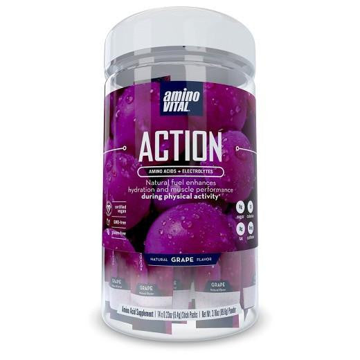 Buy Amino Vital, Action Amino Acids + Electrolytes Natural Grape Flavor - 3.16oz at Herbal Bless Supplement Store