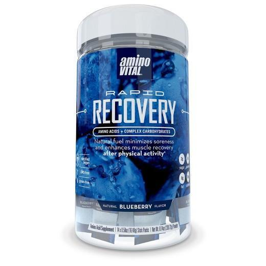 Buy Amino Vital, Rapid Recovery Amino Acids + Complex Carb, Blueberry Flavor - 8.14 oz at Herbal Bless Supplement Store