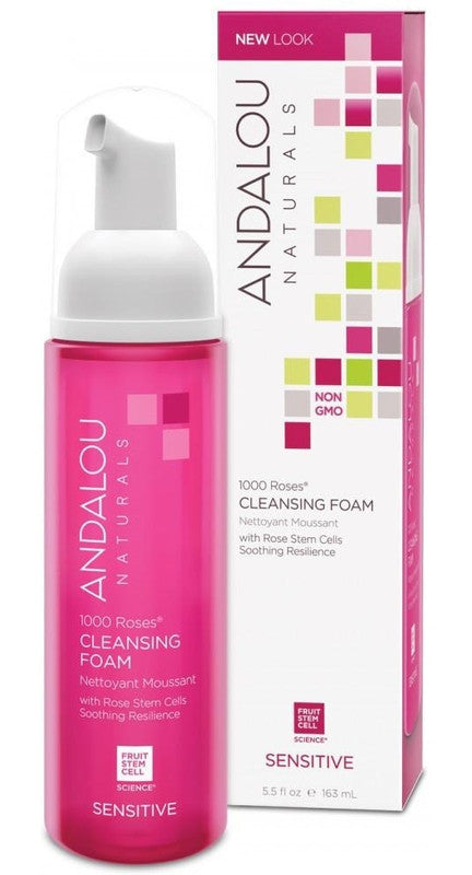 Buy Andalou Naturals, 1000 Roses Cleansing Foam, 5.5 oz at Herbal Bless Supplement Store