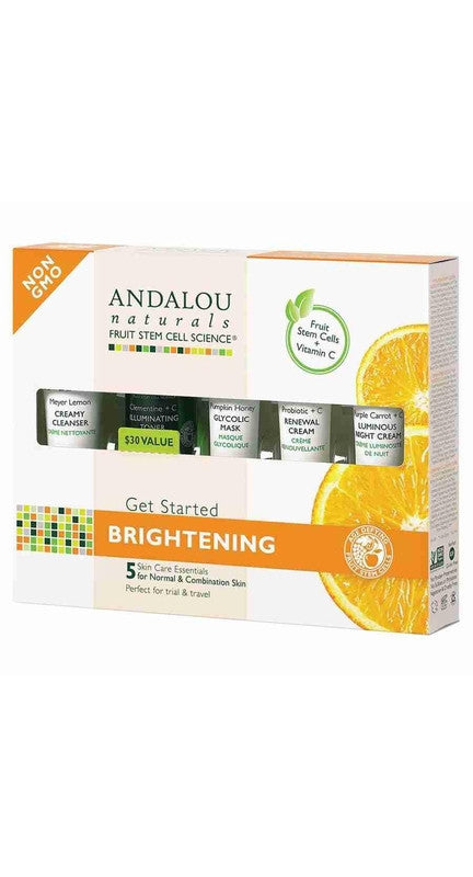 Buy Andalou Naturals, Get Started Brightening Kit, 5 pc at Herbal Bless Supplement Store