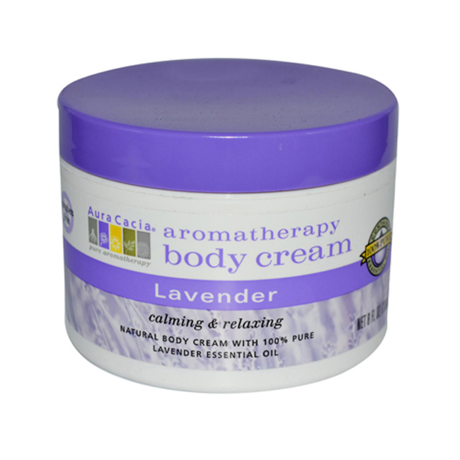Buy Aura Cacia, Body Cream Lavender, 8 oz at Herbal Bless Supplement Store