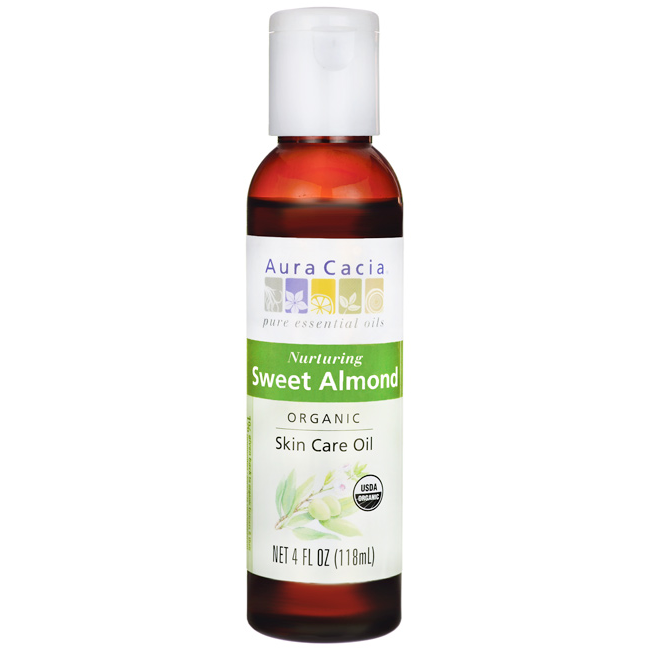 Buy Aura Cacia, Organics Skin Care Oil Sweet Almond, 4 oz at Herbal Bless Supplement Store