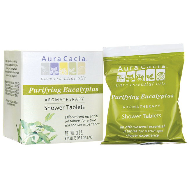 Buy Aura Cacia, Shower Tablets Purifying Eucalyptus, 3 pkt at Herbal Bless Supplement Store