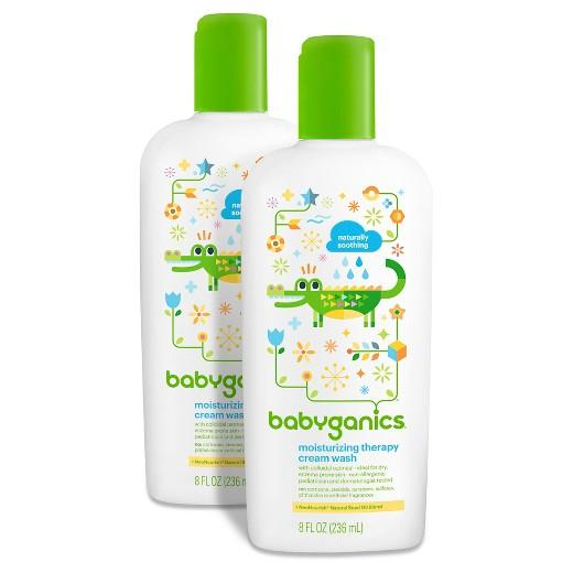 Buy Babyganics, Moisturizing Therapy Cream WashFragrance Free - 8oz (2pk) at Herbal Bless Supplement Store