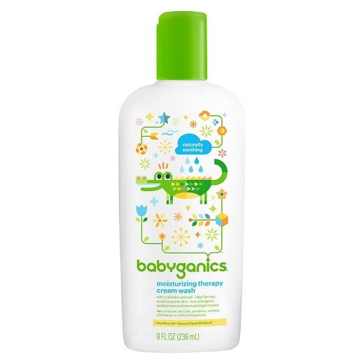 Buy Babyganics, Moisturizing Therapy Cream WashFragrance Free - 8oz Bottle at Herbal Bless Supplement Store