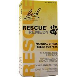 Buy Bach Flower Remedies, Rescue Remedy Pet - Natural Stress Relief For Pets, 20 mL at Herbal Bless Supplement Store