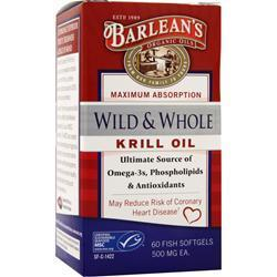 Buy Barlean's, Wild & Whole Krill Oil, 60 sgels at Herbal Bless Supplement Store