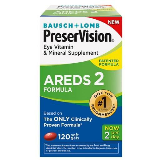 Buy Bausch & Lomb, PreserVision® Areds 2 Eye Vitamin and Mineral Softgels - 120ct at Herbal Bless Supplement Store