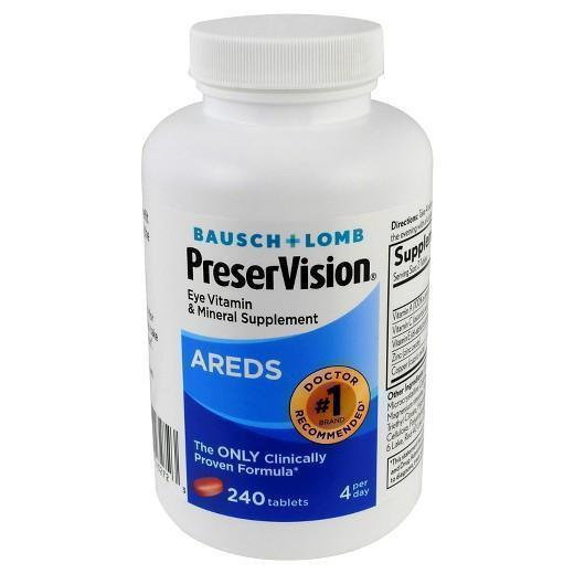 Buy Bausch & Lomb, PreserVision® AREDS Eye Vitamin Tablets - 240ct at Herbal Bless Supplement Store