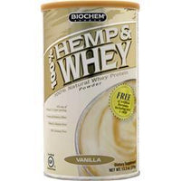 Buy Biochem, 100% Hemp & Whey, Vanilla 13.3 oz at Herbal Bless Supplement Store