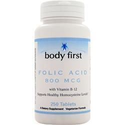 Buy Body First, Folic Acid (800mcg) 250 tabs at Herbal Bless Supplement Store