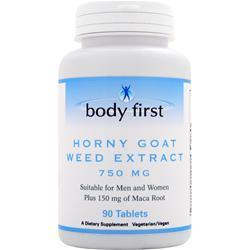 Buy Body First, Horny Goat Weed Extract (750mg) 90 tabs at Herbal Bless Supplement Store