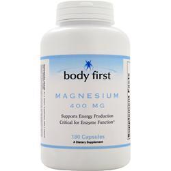 Buy Body First, Magnesium (400mg) 180 caps at Herbal Bless Supplement Store