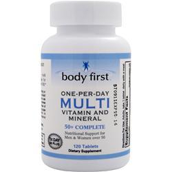 Buy Body First, One-Per-Day Multi - Vitamin and Mineral 50+ Complete, 120 tabs at Herbal Bless Supplement Store