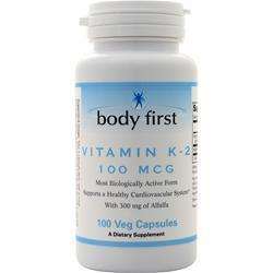Buy Body First, Vitamin K-2 (100mcg) 100 vcaps at Herbal Bless Supplement Store