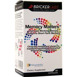 Buy Bricker Labs, Memory Matters, 60 caps at Herbal Bless Supplement Store