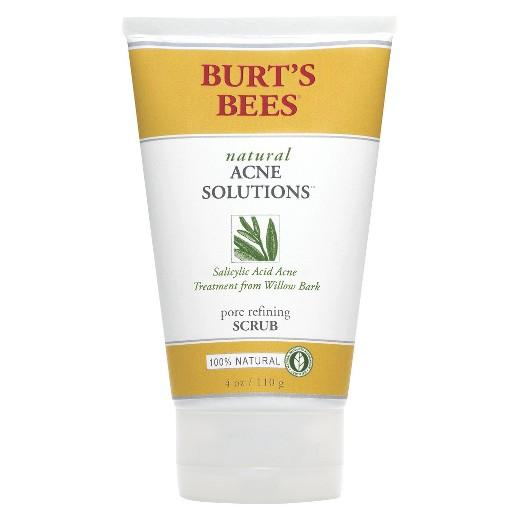 Buy Burt's Bees, Natural Acne Solutions Pore Refining Scrub - 4 oz at Herbal Bless Supplement Store