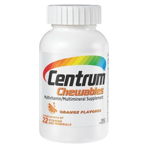 Buy Centrum, Multivitamin plus Multimineral Orange Chewable Tablets - 100ct at Herbal Bless Supplement Store