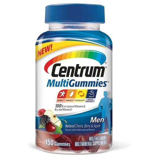 Buy Centrum®, MultiGummies® Multivitamin and Multimineral for Men - 164 ct at Herbal Bless Supplement Store