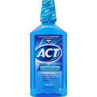 Buy Chattem, ACT Restoring Anticavity Flouride Mouthwash, Cool Splash Mint 33.8 fl.oz at Herbal Bless Supplement Store