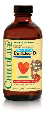 Buy ChildLife, Cod Liver Oil Strawberry, 8 oz at Herbal Bless Supplement Store
