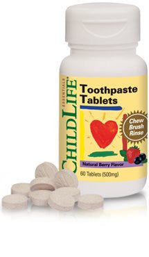Buy ChildLife, Toothpaste Tablets Natural Berry, 60 tablet at Herbal Bless Supplement Store