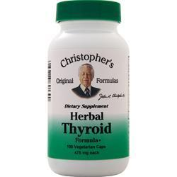 Buy Christopher's Original Formulas, Herbal Thyroid Formula, 100 vcaps at Herbal Bless Supplement Store