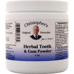 Buy Christopher's Original Formulas, Herbal Tooth & Gum Powder, 2 oz at Herbal Bless Supplement Store