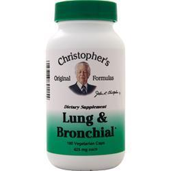 Buy Christopher's Original Formulas, Lung & Bronchial, 100 vcaps at Herbal Bless Supplement Store