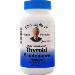Buy Christopher's Original Formulas, Thyroid Maintenance Formula, 100 vcaps at Herbal Bless Supplement Store