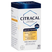 Buy Citracal®, Calcium + D3 Slow Release 1200mg Calcium Supplement Tablets - 80ct at Herbal Bless Supplement Store