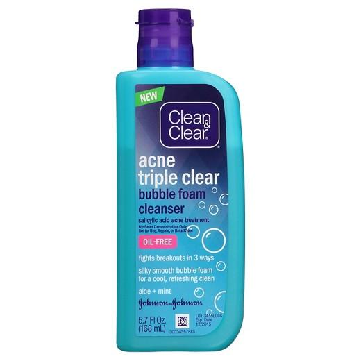 Buy Clean & Clear®,Acne Triple Clear Bubble Foam Cleanser - 5.7 fl oz at Herbal Bless Supplement Store
