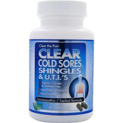 Buy Clear Products, Cold Sores, Shingles & U.T.I.s, 60 caps at Herbal Bless Supplement Store