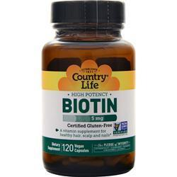 Buy Country Life, Biotin (5mg) at Herbal Bless Supplement Store