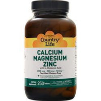 Buy Country Life, Calcium Magnesium Zinc with L-Glutamic Acid, 250 tabs at Herbal Bless Supplement Store
